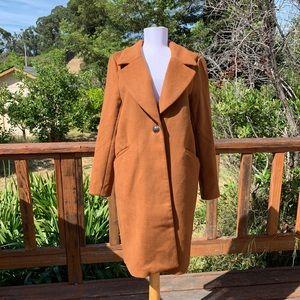 H&M Tan Longline Overcoat